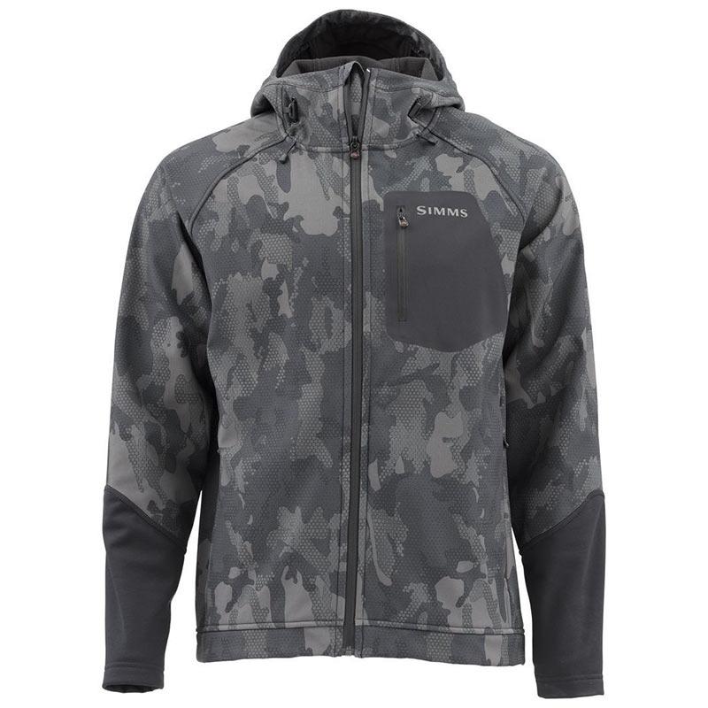 Куртка Simms Katafront Hoody Hex Flo Camo Carbon