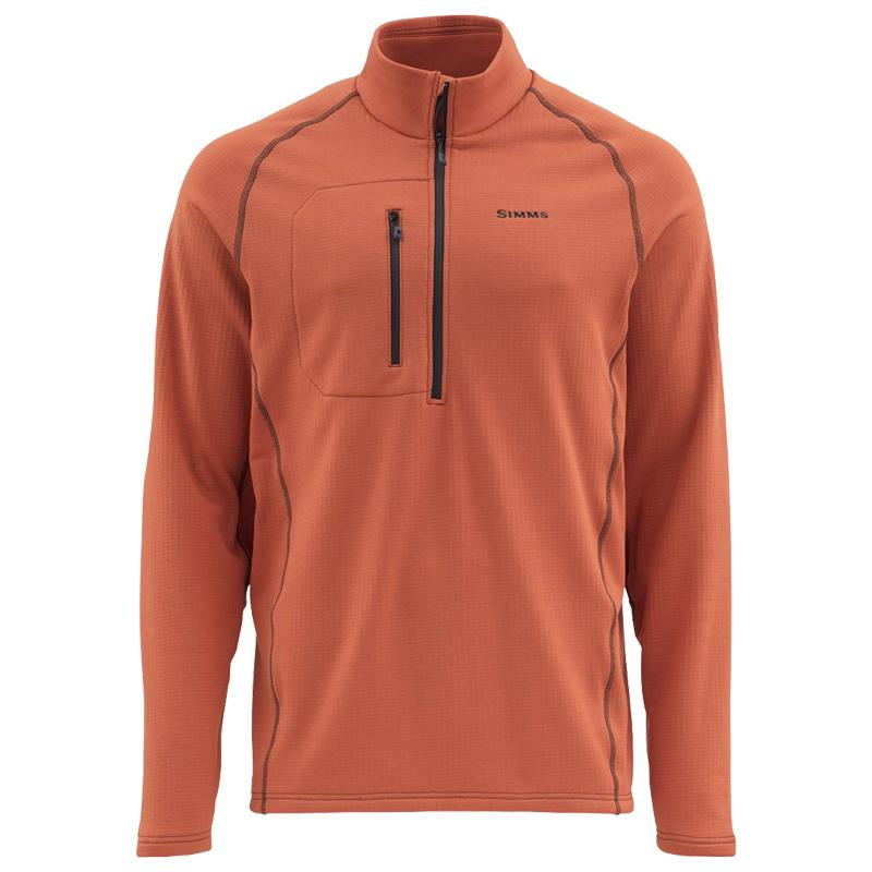 Пуловер Simms Fleece Midlayer Top Simms Orange