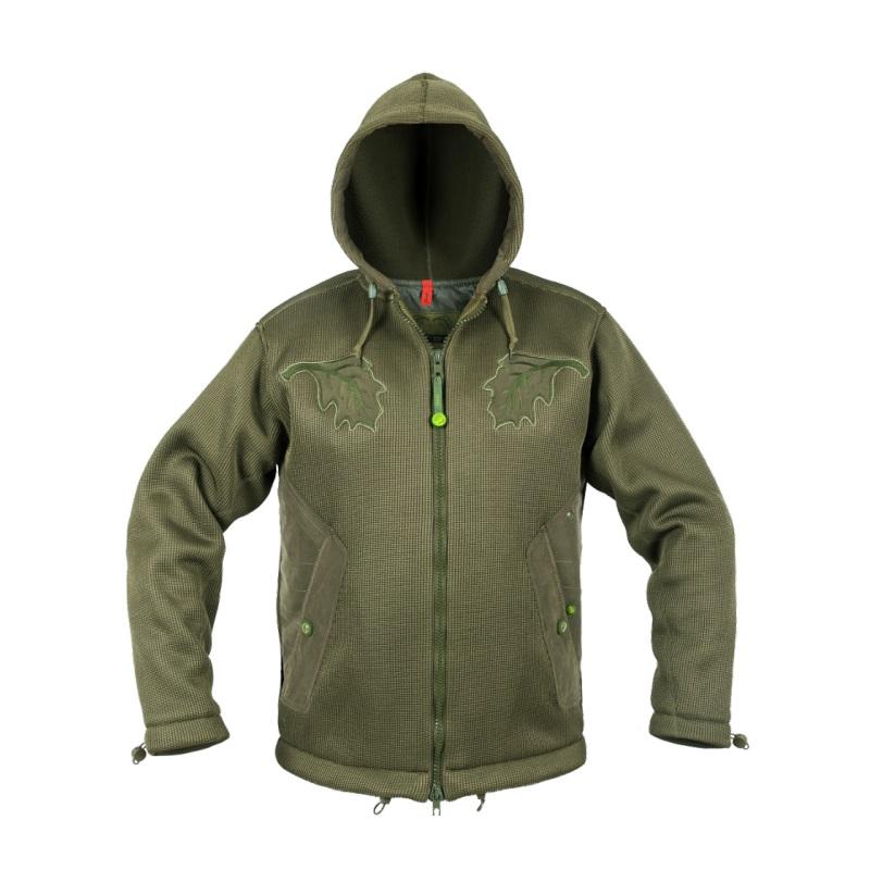 Куртка Graff из трикотажа с капюшоном(Роlaron-X400) оливк.
