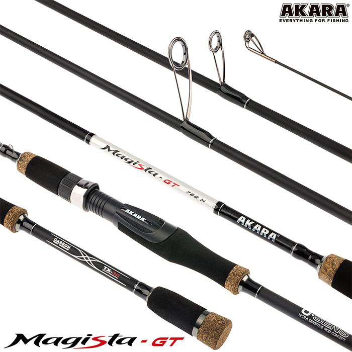 Спиннинг штекерный угольный 2 колена Akara Magista GT H (21-62)