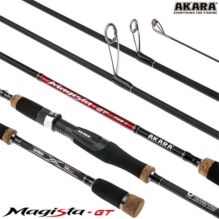 Спиннинг штекерный угольный 2 колена Akara Magista GT L (2,5-11)