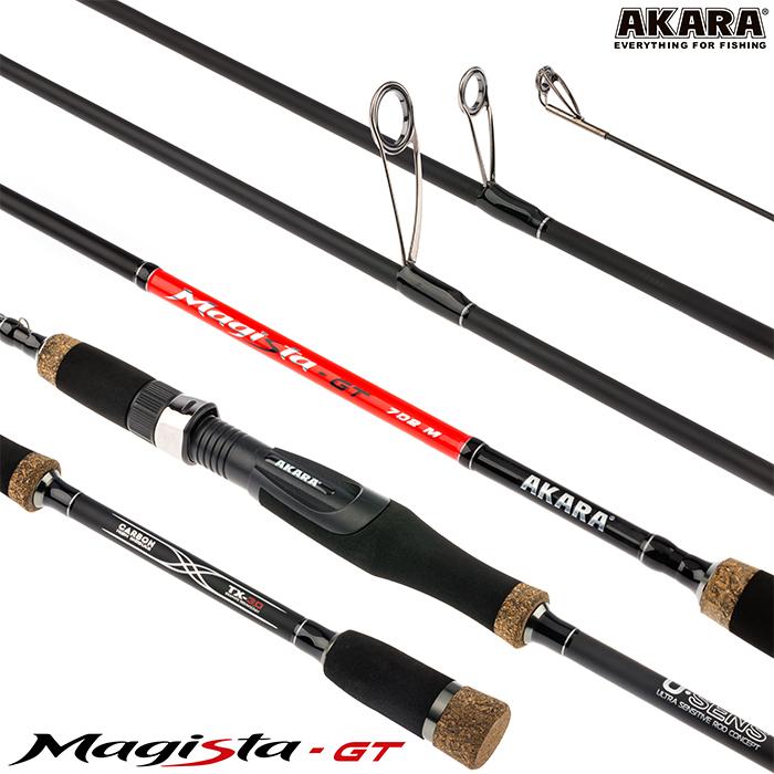 Спиннинг штекерный угольный 2 колена Akara Magista GT M (5,5-27)