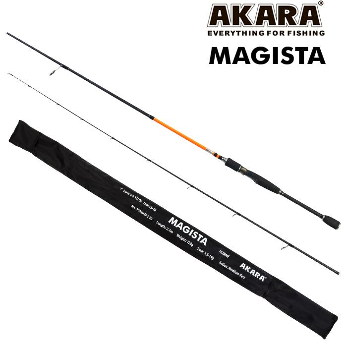 Спиннинг штекерный угольный 2 колена Akara Magista MMF2