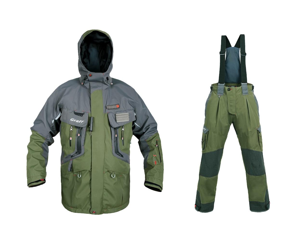 Костюм рыболовный Graff (длинная куртка+брюки) ткань Bratex