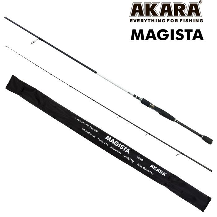 Спиннинг штекерный угольный 2 колена Akara Magista HMF
