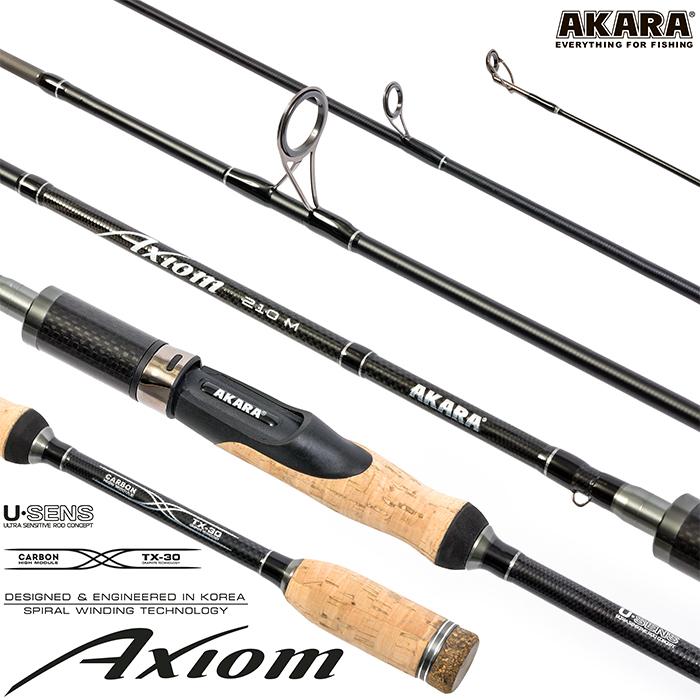 Спиннинг штекерный угольный 2 колена Akara Axiom M (6-28)