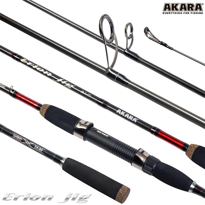 Спиннинг штекерный угольный 2 колена Akara Erion Jig TX-30 (10-30)