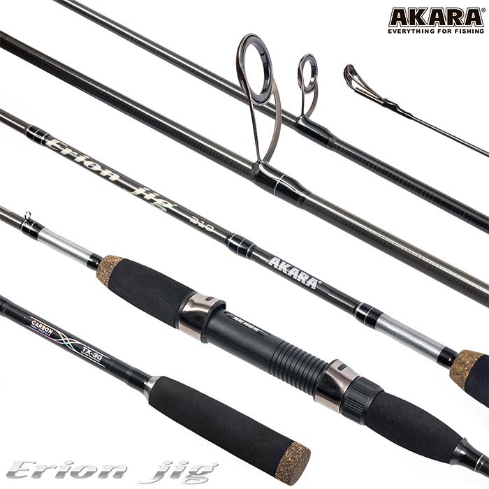 Спиннинг штекерный угольный 2 колена Akara Erion Jig TX-30 (3-12)