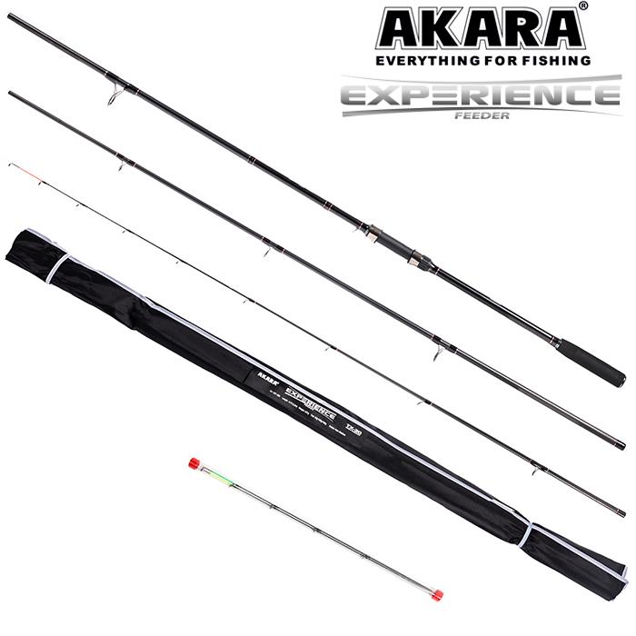 Удилище штекерное угольное фидерное 3 колена Akara Experience Feeder TX-30 (30-60-90)