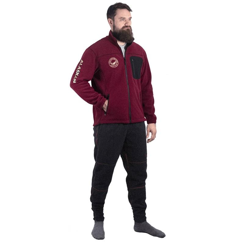 Куртка флисовая Alaskan North Wind бордовая