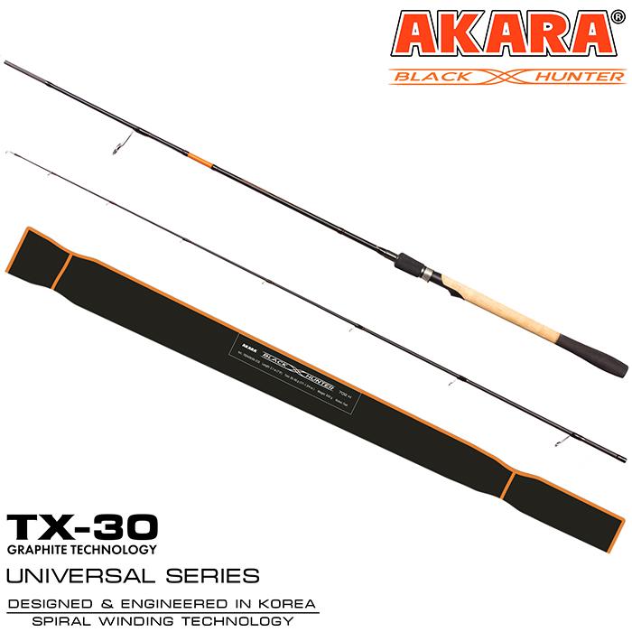 Спиннинг штекерный угольный Akara Black Hunter (4-18) ML