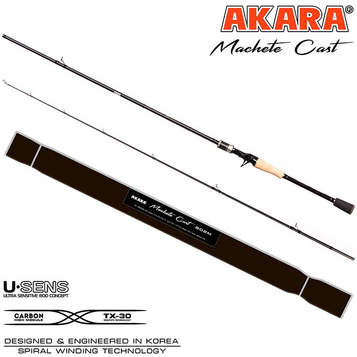 Спиннинг штекерный угольный Akara Machete Cast (17-45) MH
