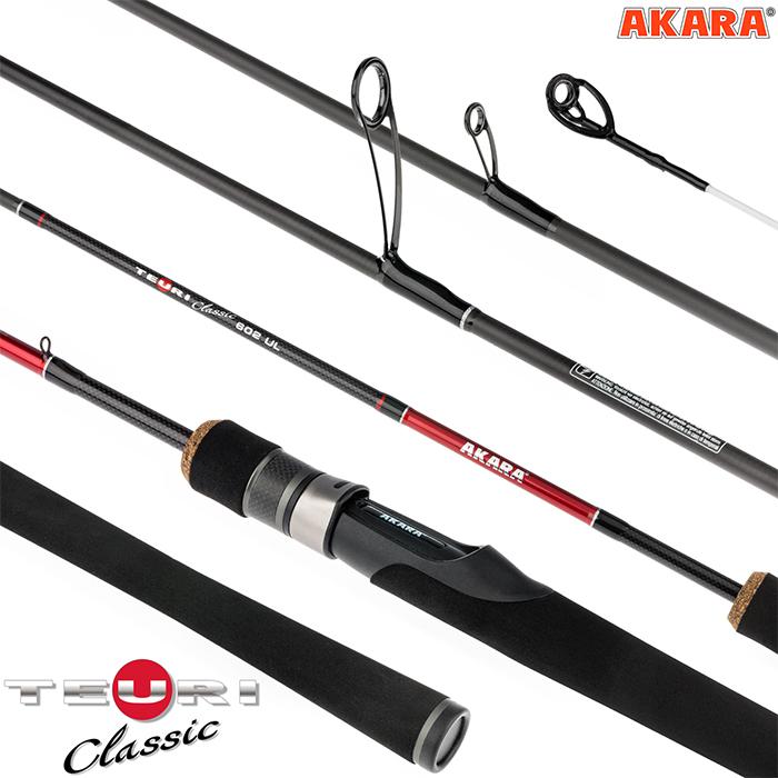 Спиннинг штекерный угольный 2 колена Akara Teuri Classic UL TX-30 (0,6-7)