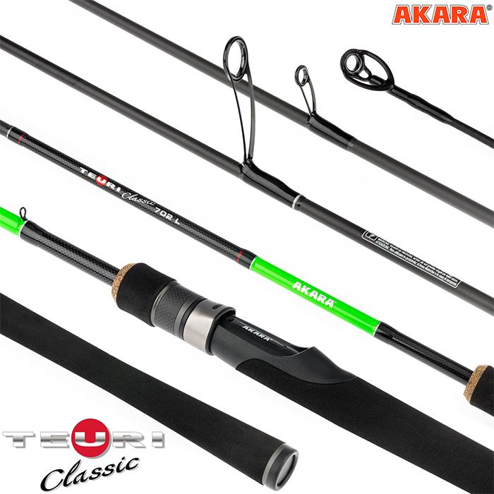 Спиннинг штекерный угольный 2 колена Akara Teuri Classic L TX-30 (3,5-12)