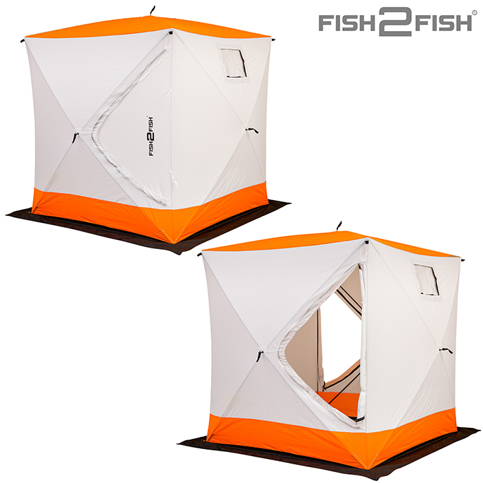 Палатка зимняя Fish 2 Fish Куб 1,8х1,8х1,95 м с юбкой в чехле