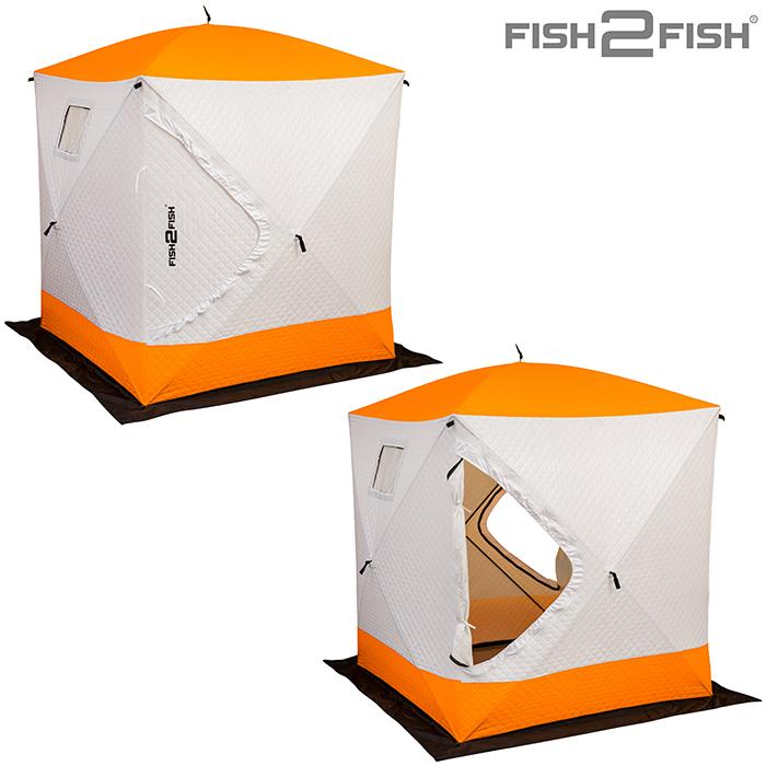 Палатка зимняя Fish 2 Fish Куб 1,6х1,6х1,7 м с юбкой в чехле утепленная