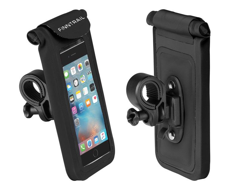 Герметичный чехол для телефона с унивекрсальным креплением на руль Finntrail Navy