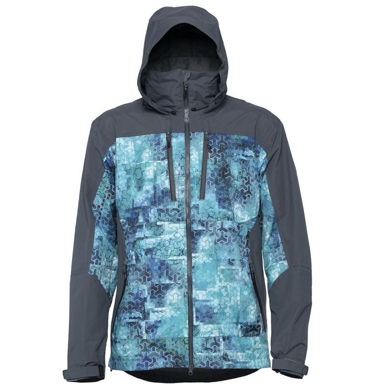 Куртка FHM Gale Принт голубой/серый