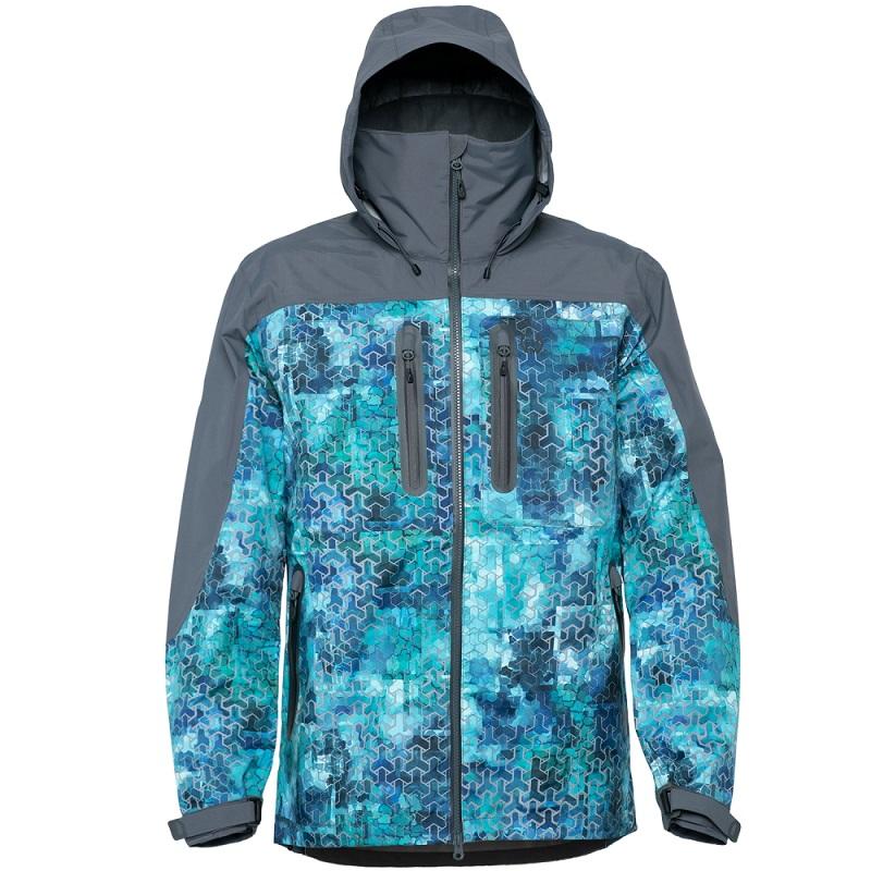 Куртка FHM Guard Принт голубой/серый