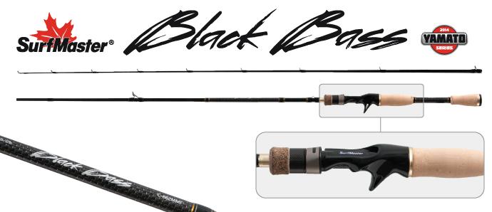 Спиннинг штекерный угольный 2 колена Surf Master K1227 Black Bass Cast с курком TX-20