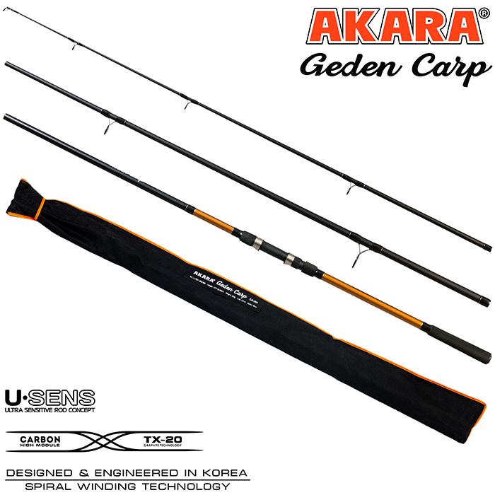 Удилище штекерное угольное карповое 3 колена Akara L17031 Geden Carp TX-20