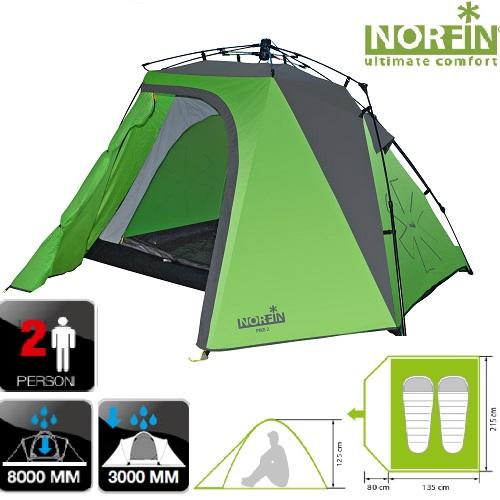 Палатка автоматическая двухместная Norfin Pike 2 Nf