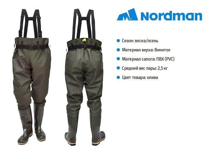 Сапоги-брюки рыбацкие Nordman Fusion ПС-15 БР (Псков-П)