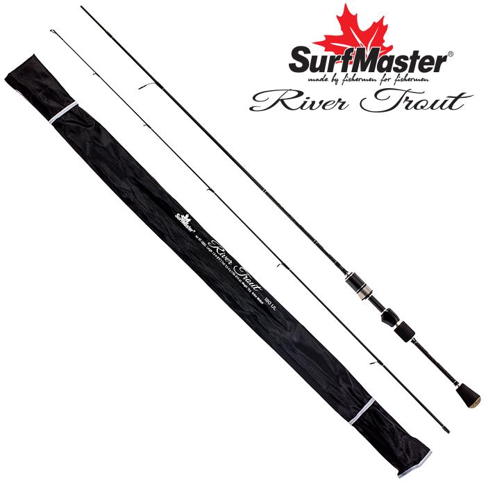 Спиннинг штекерный угольный 2 колена Surf Master River Trout UL (0,6-6) 1,8 м