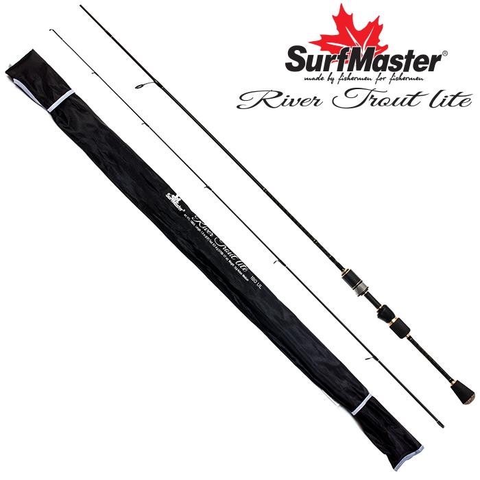 Спиннинг штекерный угольный 2 колена Surf Master River Trout Lite UL (0,2-4) 1,8 м