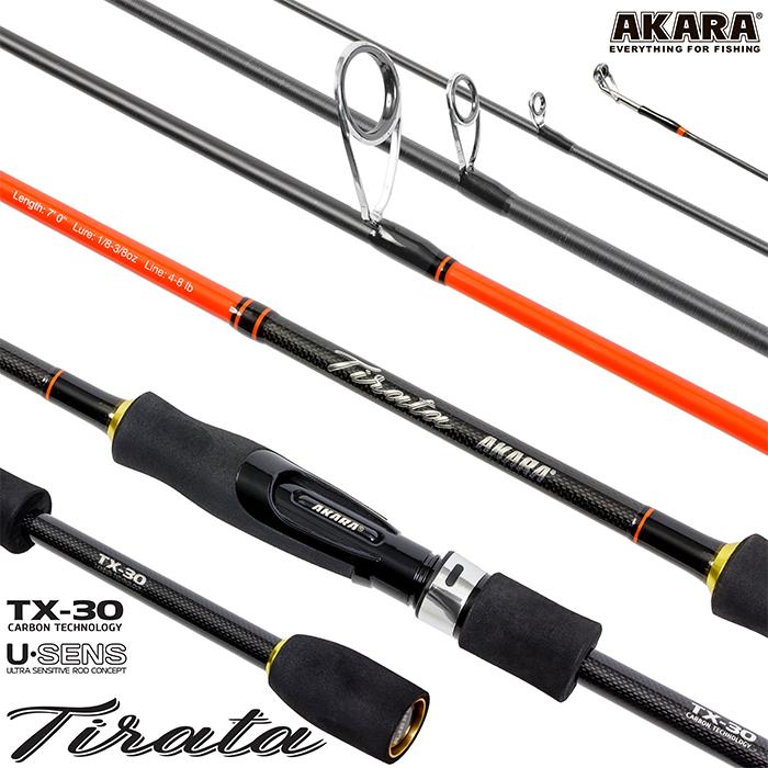 Спиннинг штекерный угольный 2 колена Akara SL1002 Tirata TX-30