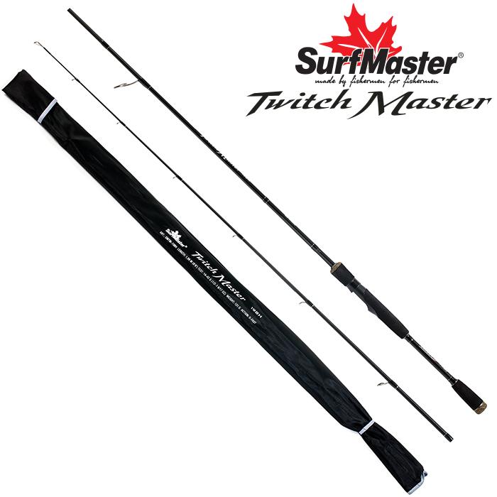Спиннинг штекерный угольный 2 колена Surf Master Twitch Master H