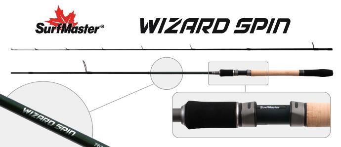 Спиннинг штекерный угольный 2 колена Surf Master SP1120 Wizard Spin