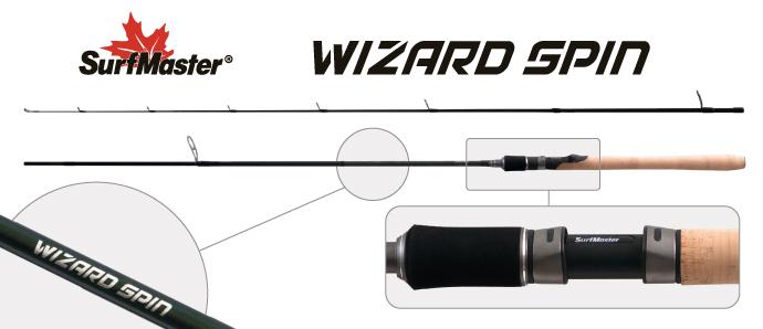 Спиннинг штекерный угольный 2 колена Surf Master SP1122 Wizard Spin