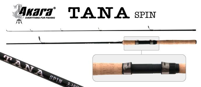 Спиннинг штекерный угольный 2 колена Akara Tana Spin IM7